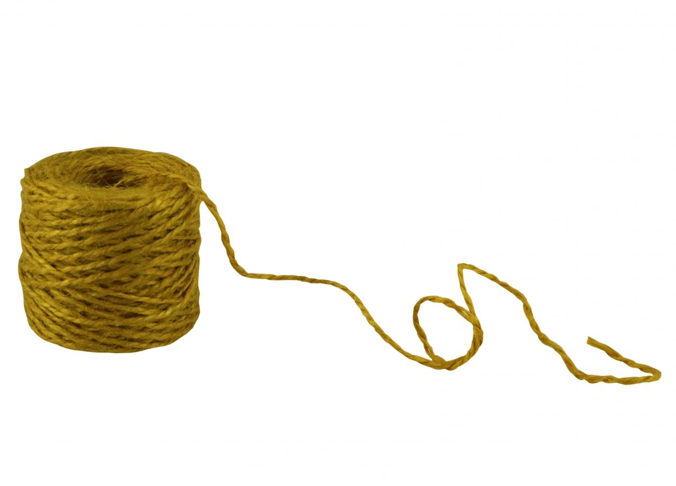 Шпагат джутовий жовтий, 45 метрів - 5