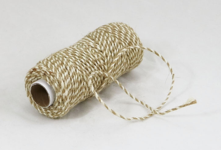 Jute cord natural/bleached, 50 meters - 1