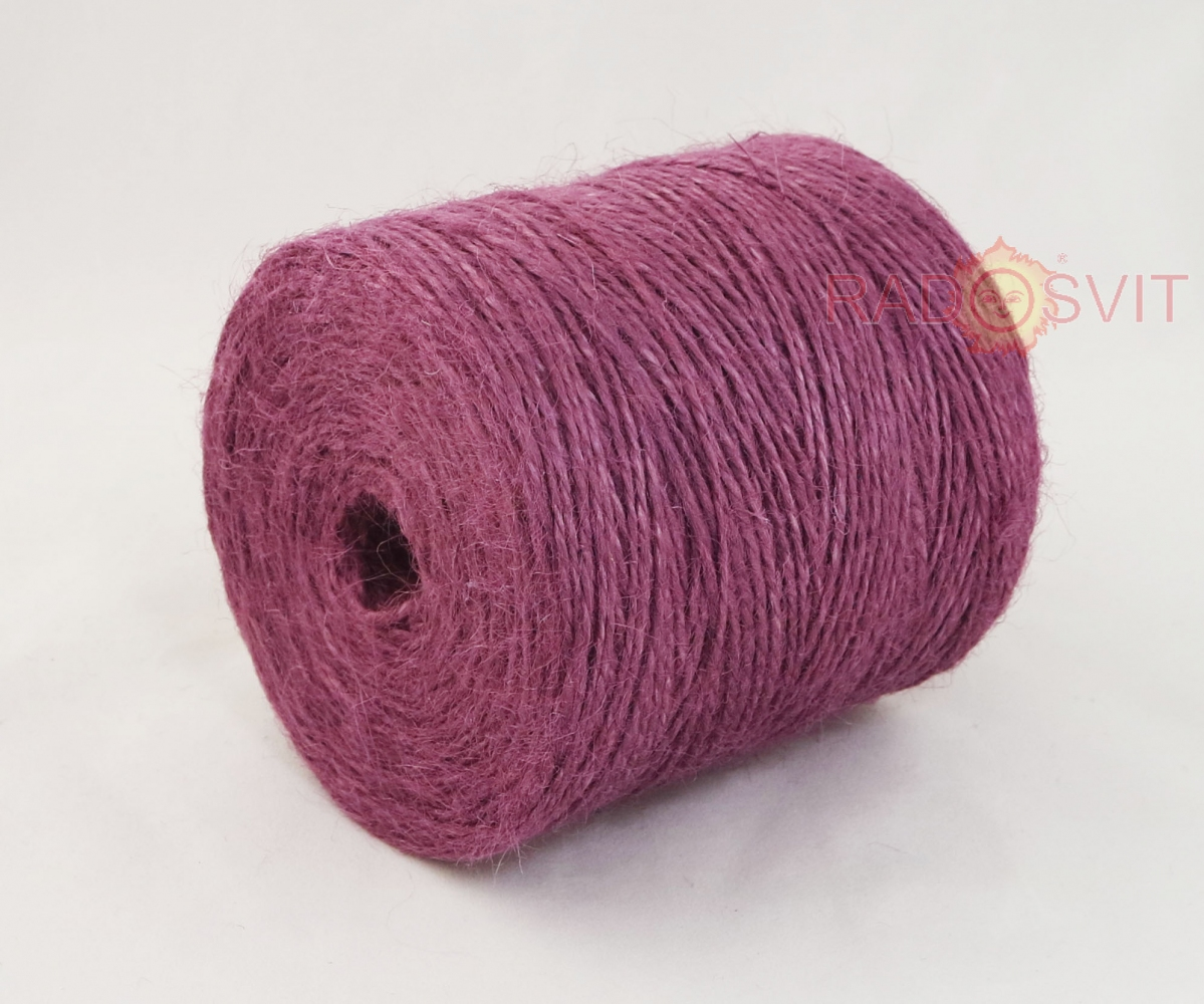 Jute twine in light purple color, 350 meters - 1