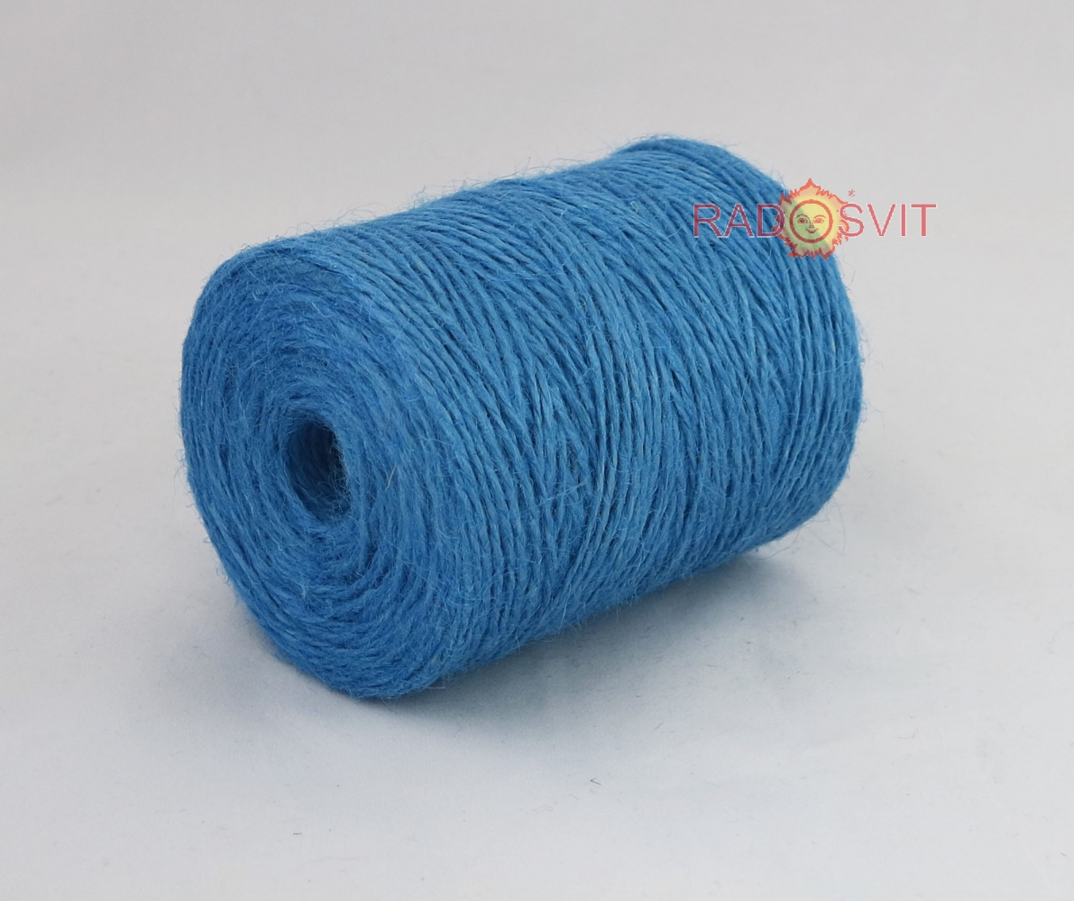 Jute twine light blue, 250 meters - 1