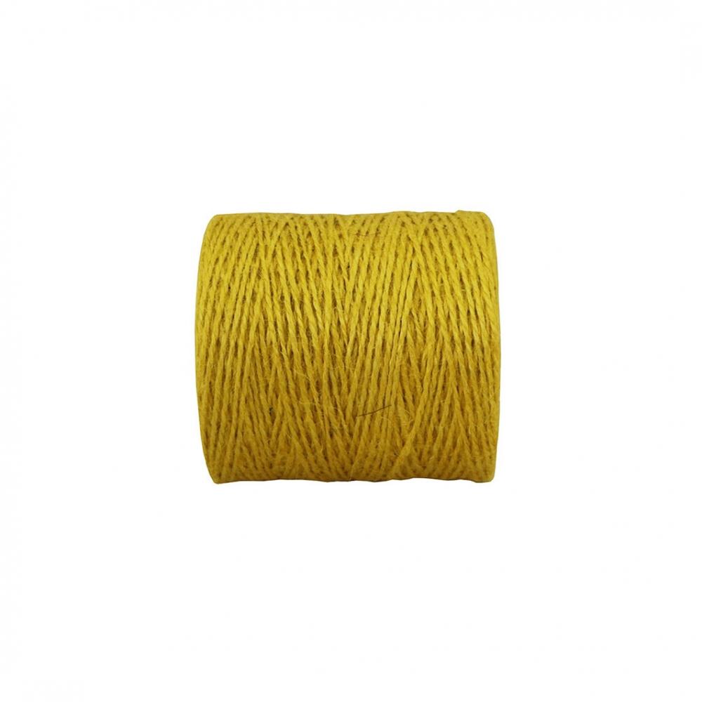 Шпагат джутовий жовтий, 350 метрів - 2