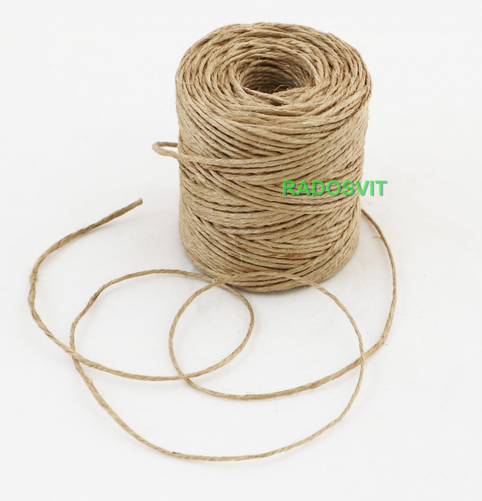 Jute polished twine, 75 meters - 1