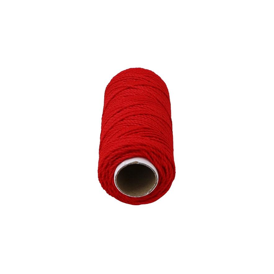 Шнурок поліпропіленовий кручений червоний, 80 метрів - 2