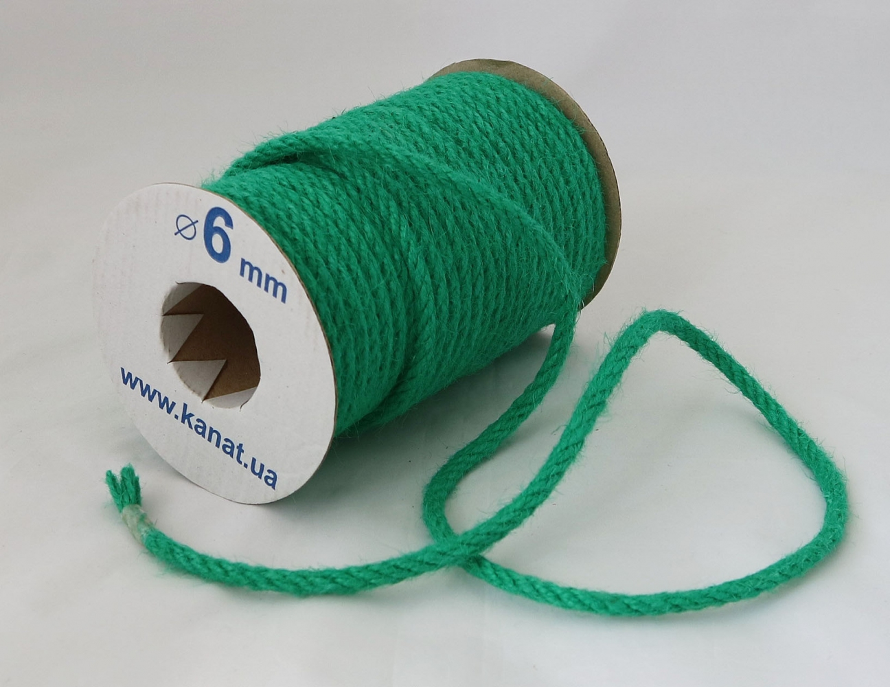 Jute rope in cyan color, diameter 6mm, 25 meters - 1