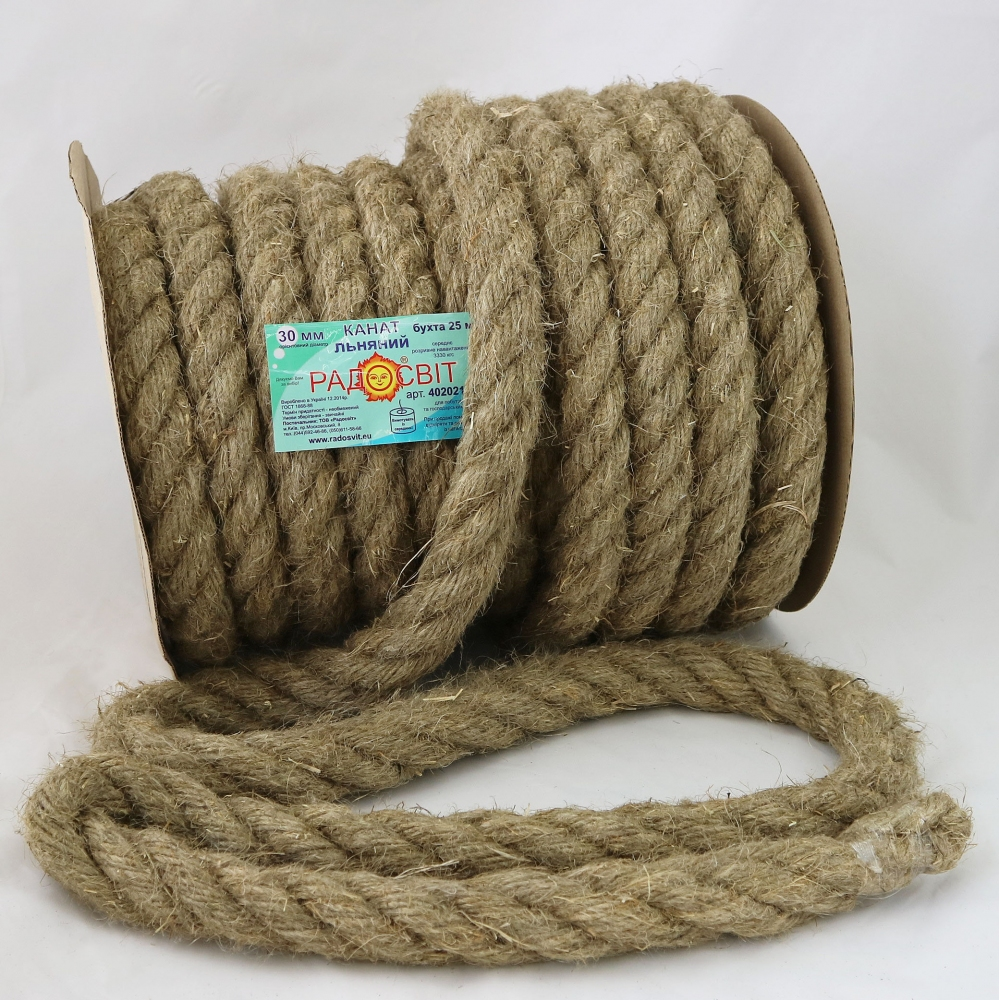 Linen rope Ø 30mm, 25 meters - 1