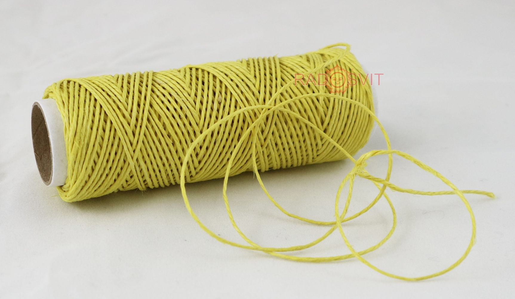 Polished linen twine, yellow color, 35 meters - 1