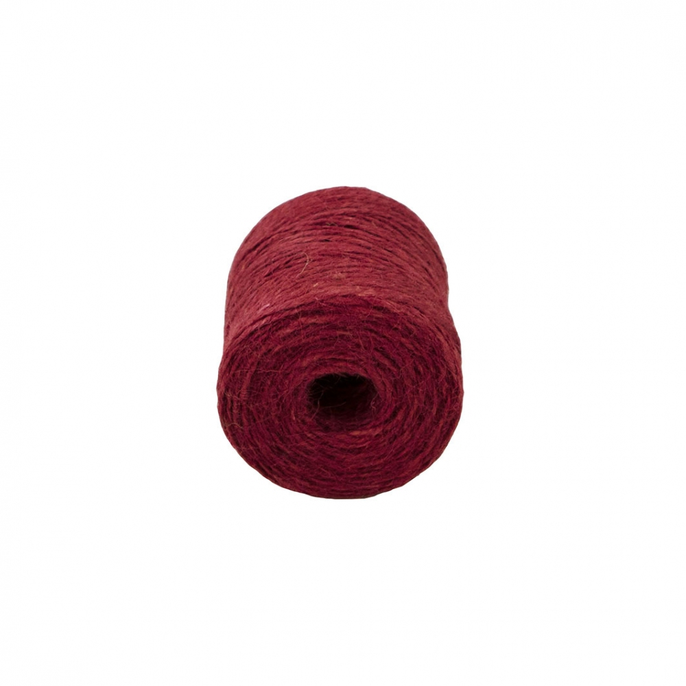 Шпагат джутовий червоний, 90 метрів - 2