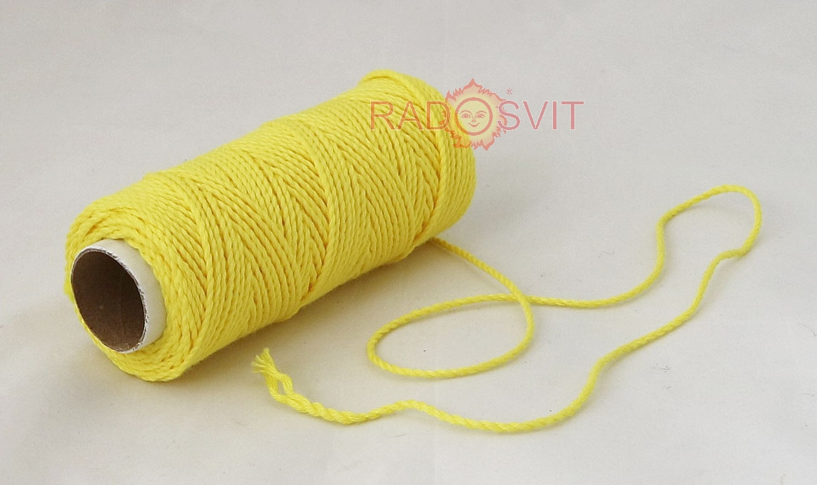 Cotton twine yellow, 45 meters - 1
