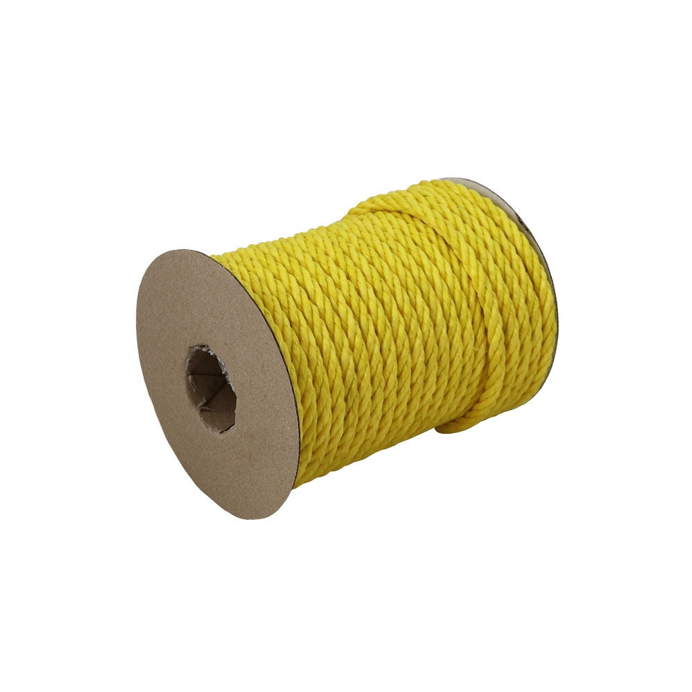 Polypropylene rope diameter 7mm yellow, 25 meters - 1