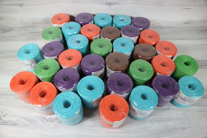 Шпагат джутовий кольоровий мікс 90 метрів в асортименті - 1