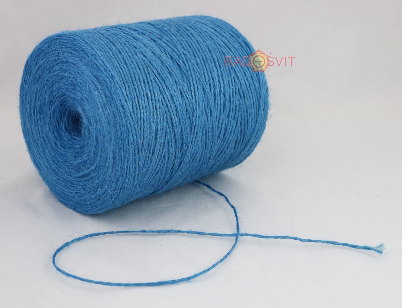 Jute twine light blue, 760 meters - 2