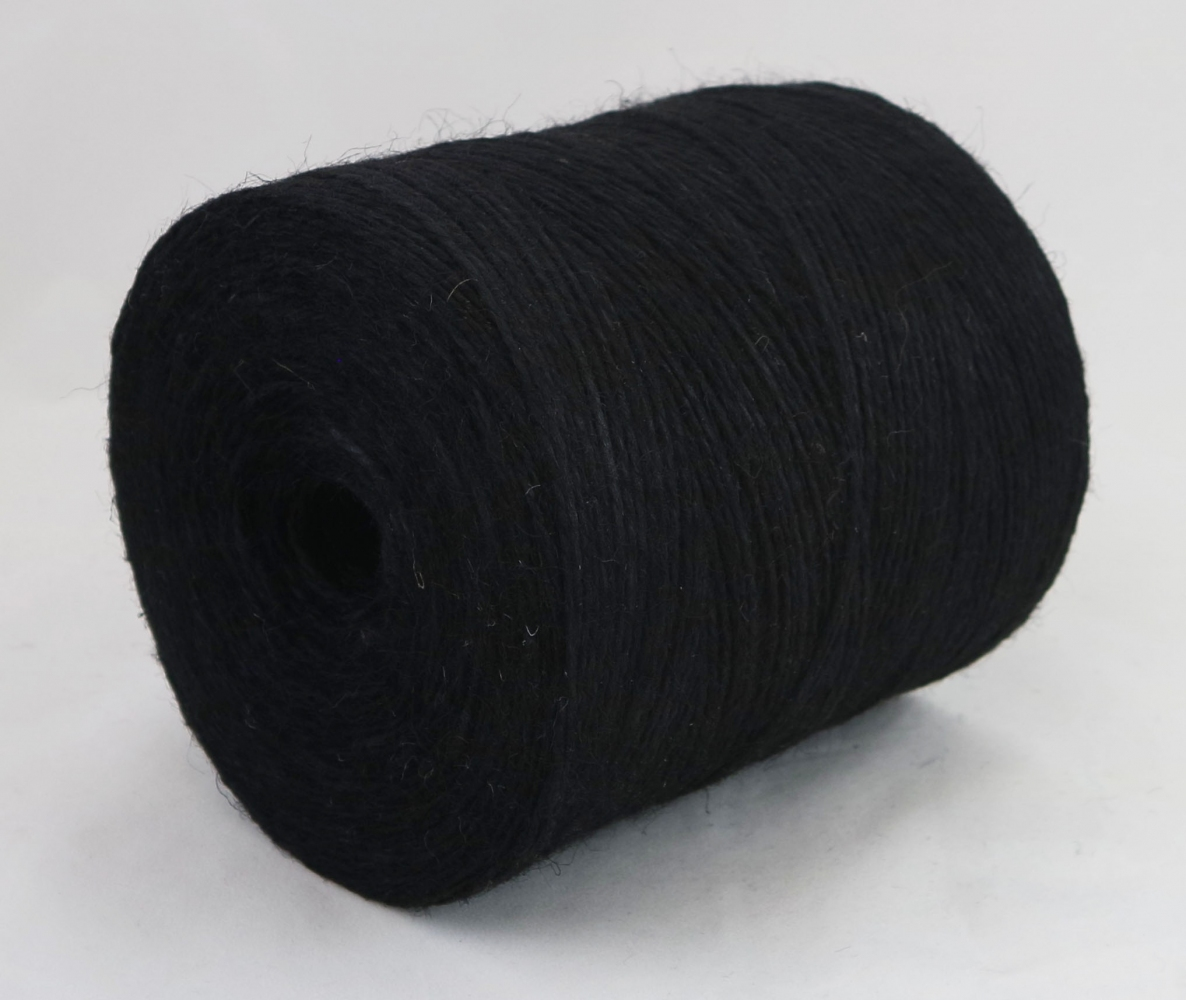 Jute twine in black color, 760 meters - 2