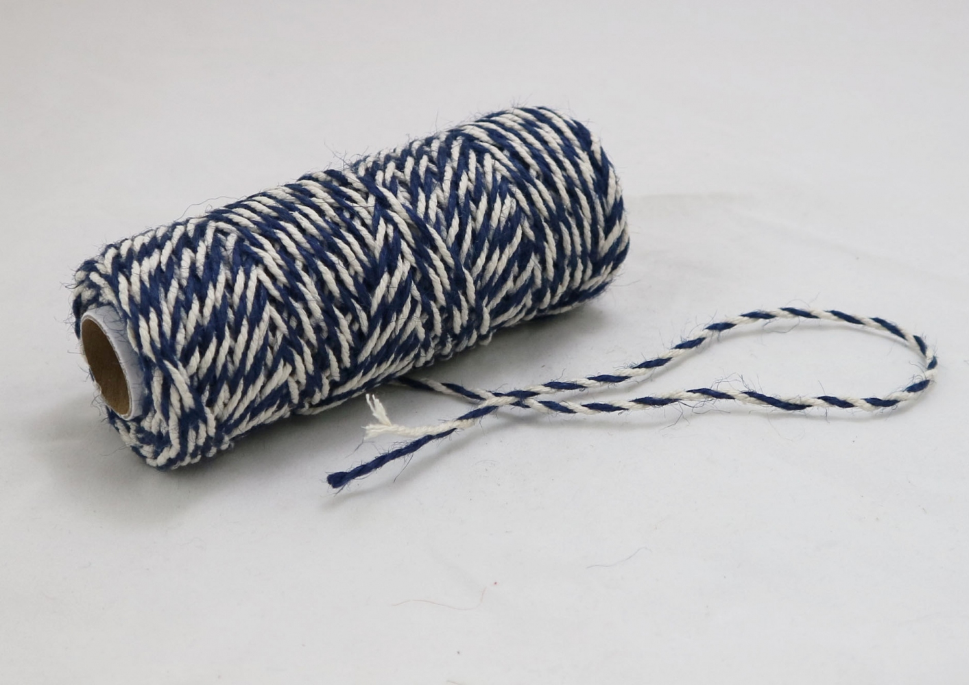 Jute+cotton cord, blue-white color, 50 meters - 2