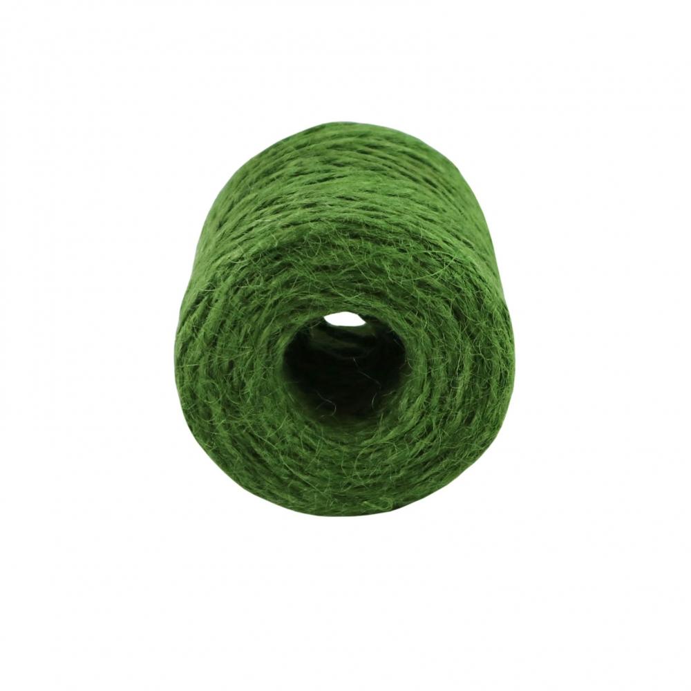 Jute twine in green color, 45 meters - 2
