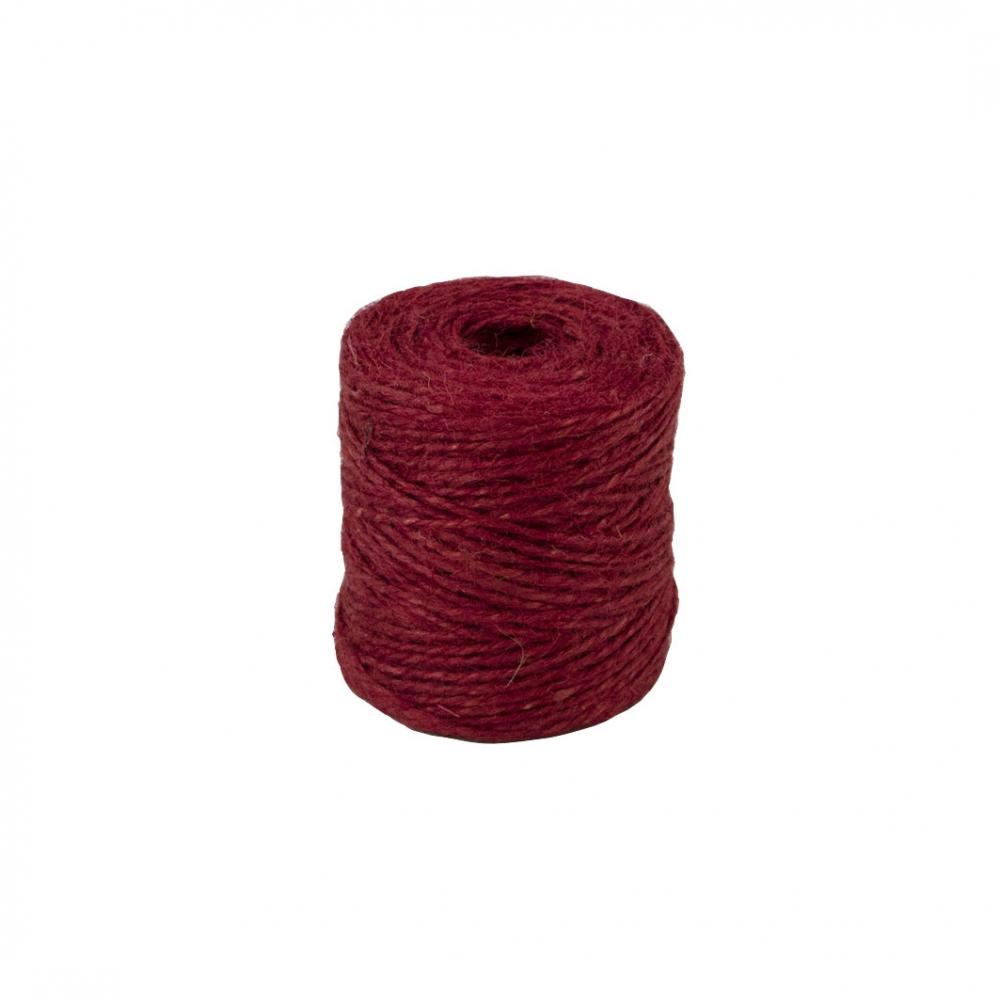 Шпагат джутовий червоний, 90 метрів - 3