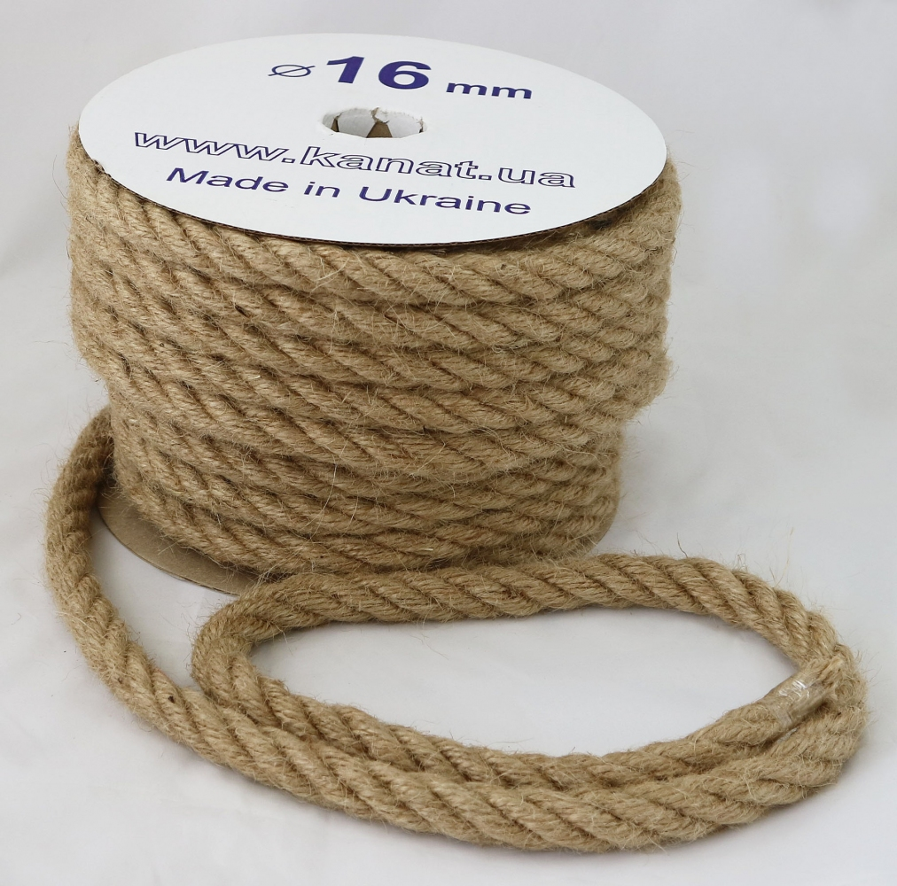 Jute rope Ø 16mm, 25 meters - 2
