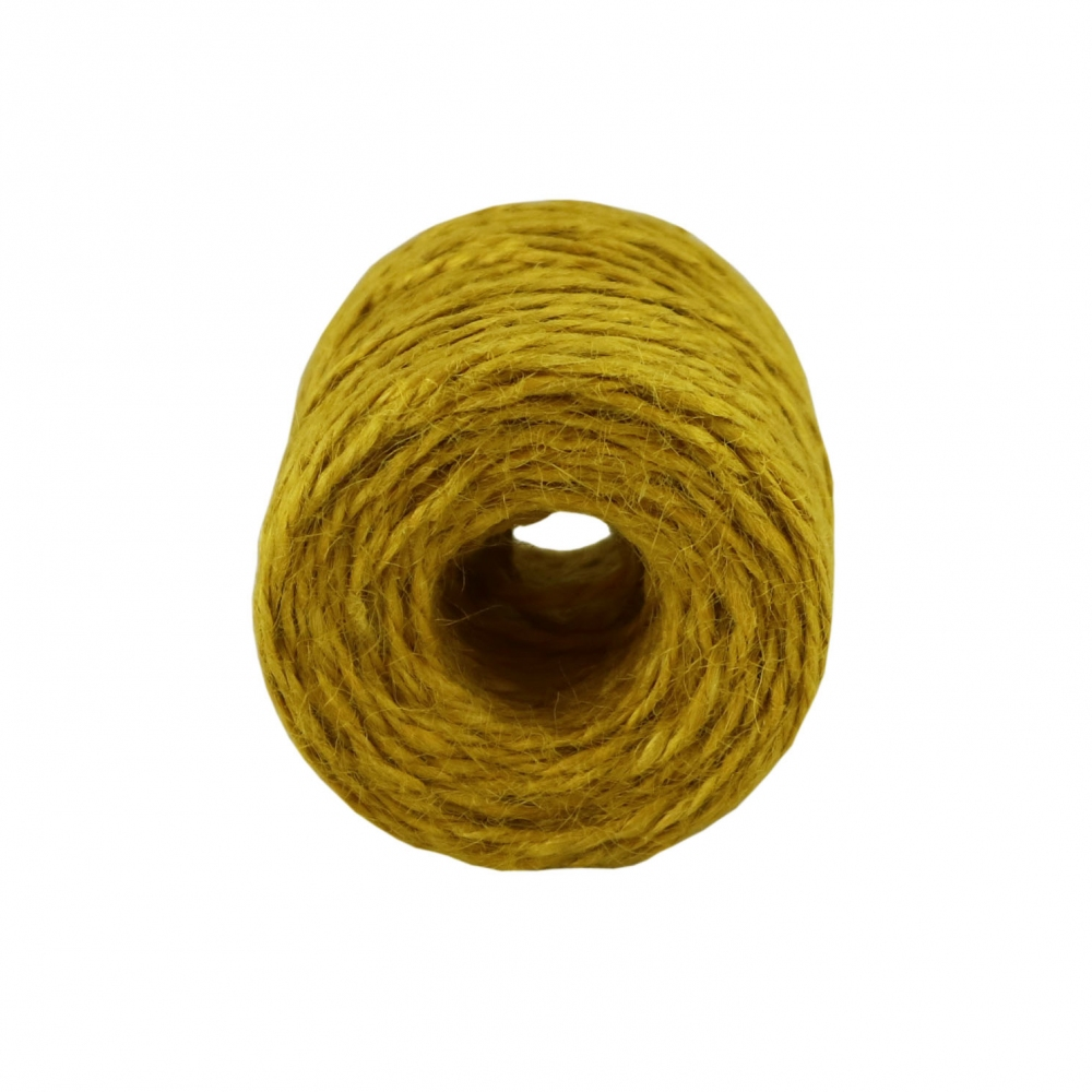 Jute twine in yellow color, 45 meters - 3