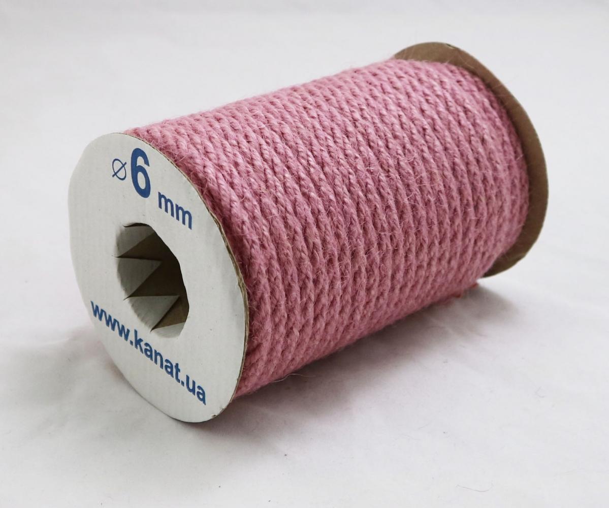 Jute rope sweet powder color, diameter 6mm, 25 meters - 1
