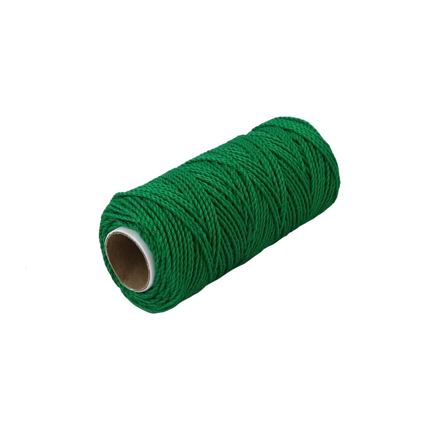 Polypropylene cord green, 80 meters - 1