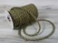 Jute rope natural-green, diameter 6mm, step of color 1+1+1+1, 25 meters - 2