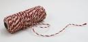 Jute cord white-red, 50 meters 2