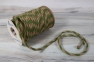 Jute rope natural-green, diameter 6mm, step of color 2+2, 25 meters - 2