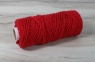 Cotton cord red, 50 meters - 1