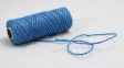 Шнур джутовий кручений блакитний, 50 метрів - 2