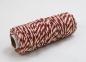 Jute cord white-red, 50 meters 0