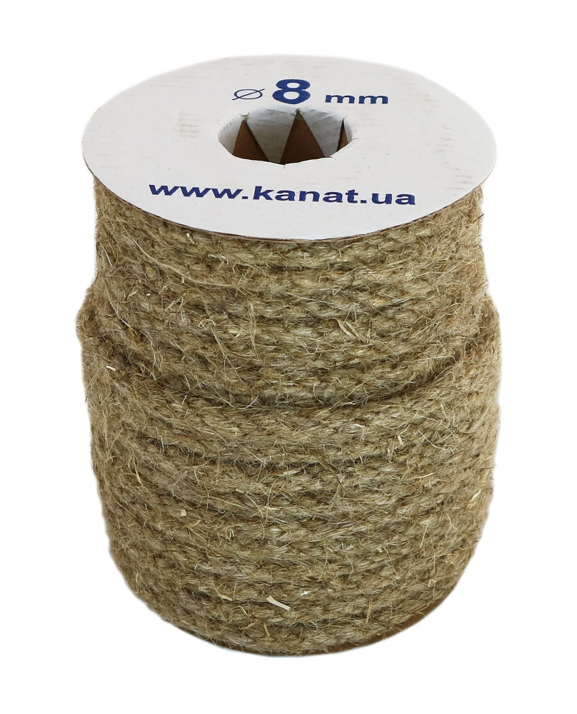 Linen rope Ø 8mm, 25 meters