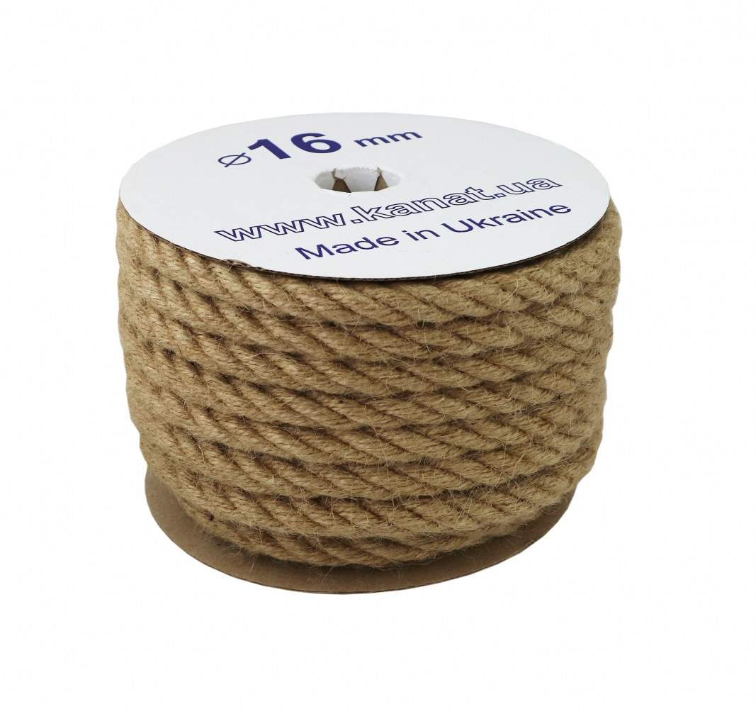 Jute rope Ø 16mm, 25 meters