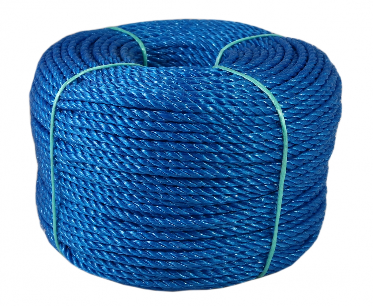 Polypropylene cord blue, diameter 5mm, 200 meters