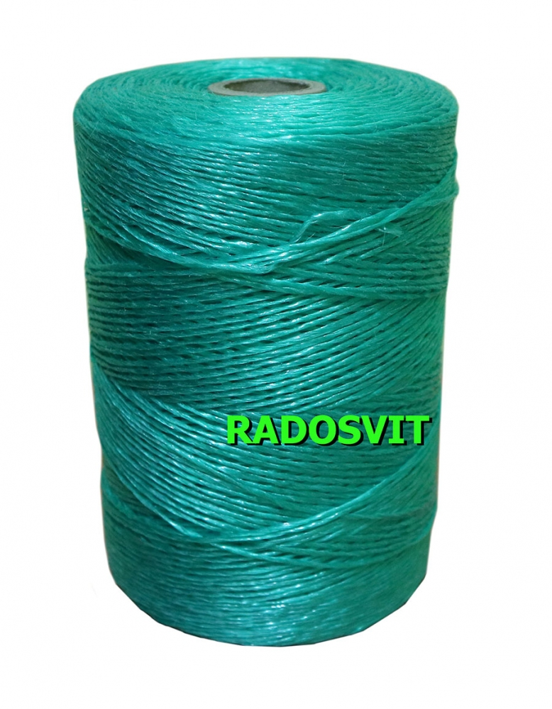 Green polypropylene twine, 1200 meters