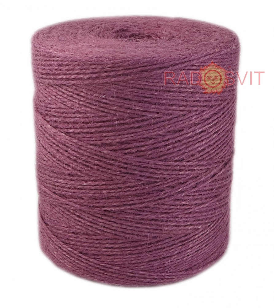 Jute twine in light purple color, 760 meters