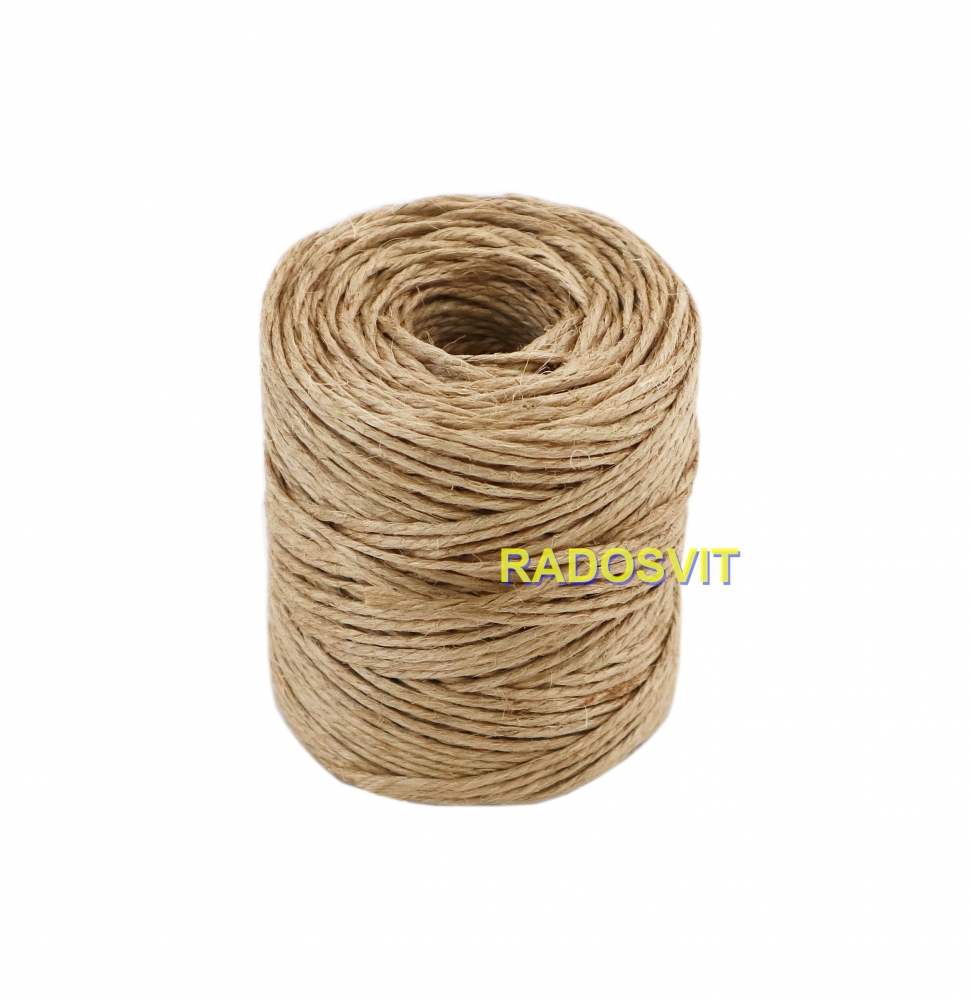 Jute polished twine, 75 meters