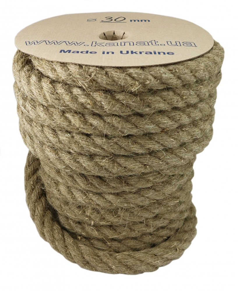 Linen rope Ø 30mm, 25 meters