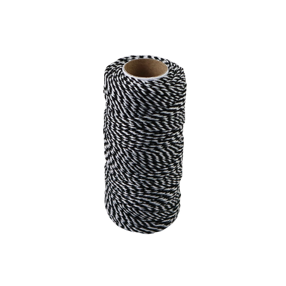 Polypropylene cord white-black, 80 meters