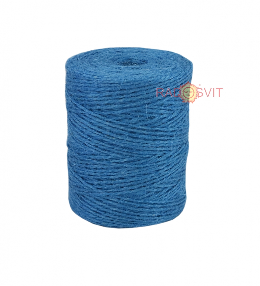Jute twine light blue, 250 meters