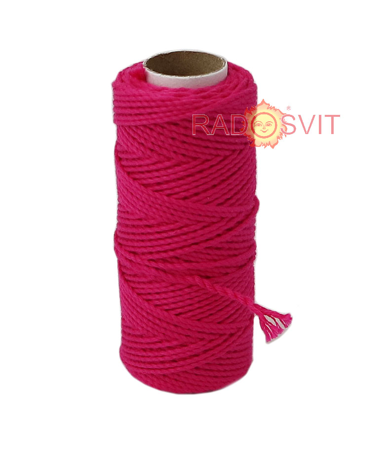 Cotton twine fuxia, 45 meters
