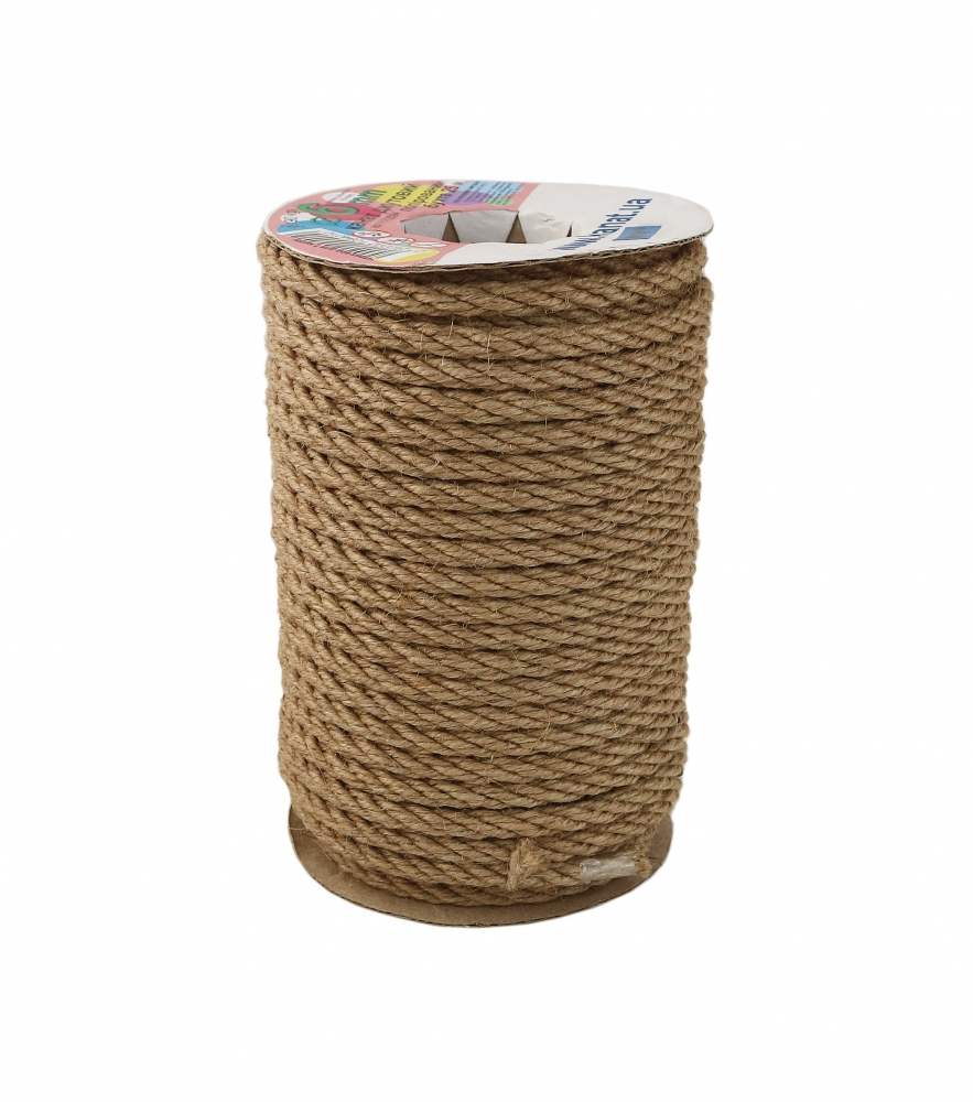 Jute polished rope, diameter 6mm, 25 meters