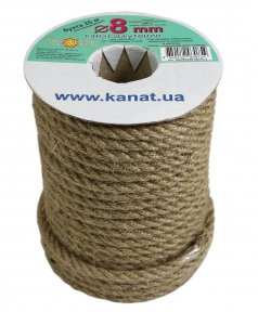 Jute rope Ø 8mm, 25 meters - 17301