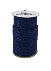 Jute rope, blue color, diameter 6mm, 25 meters