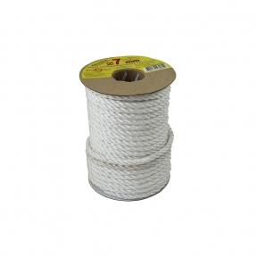 Polypropylene rope diameter 7mm white, 25 meters