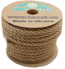 Jute rope Ø 14mm, 25 meters - 17304