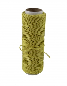 Polished linen twine, yellow color, 35 meters - 17444