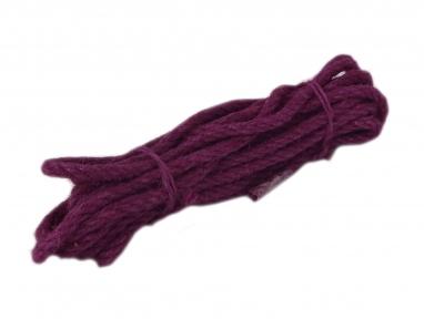 Канат джутовий фіолетовий Радосвіт, діаметр 6мм, моток 5 метрів