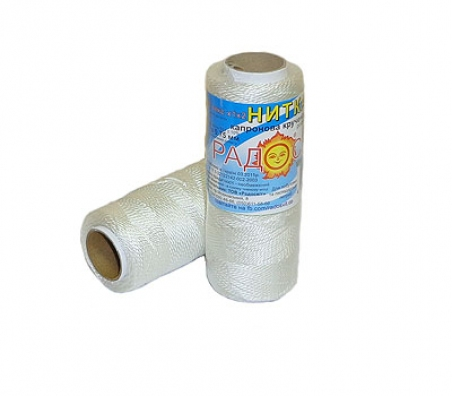 Polyamide thread 375 tex white, 125 meters - 17290