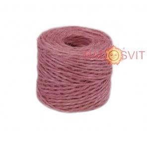 Jute twine sweet powder color (light rose), 45 meters
