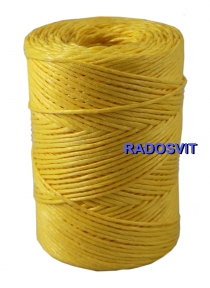 Polypropylene twine, 2000 tex, 250 meters, yellow