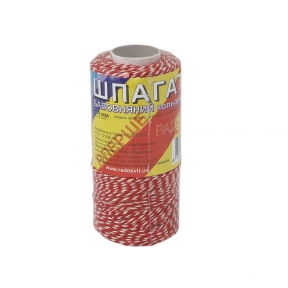 Cotton twine, red-white, 100 meters - 17485